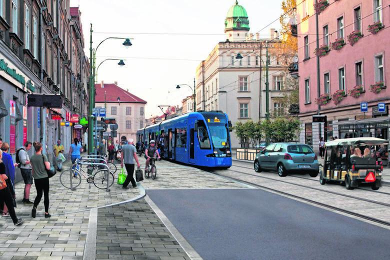 Kraków. Nowa ulica Krakowska i most Piłsudskiego. Problem ze wspólną drogą dla aut i tramwajów