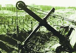 Tak wyglądały początki budowy kopalni Rudna