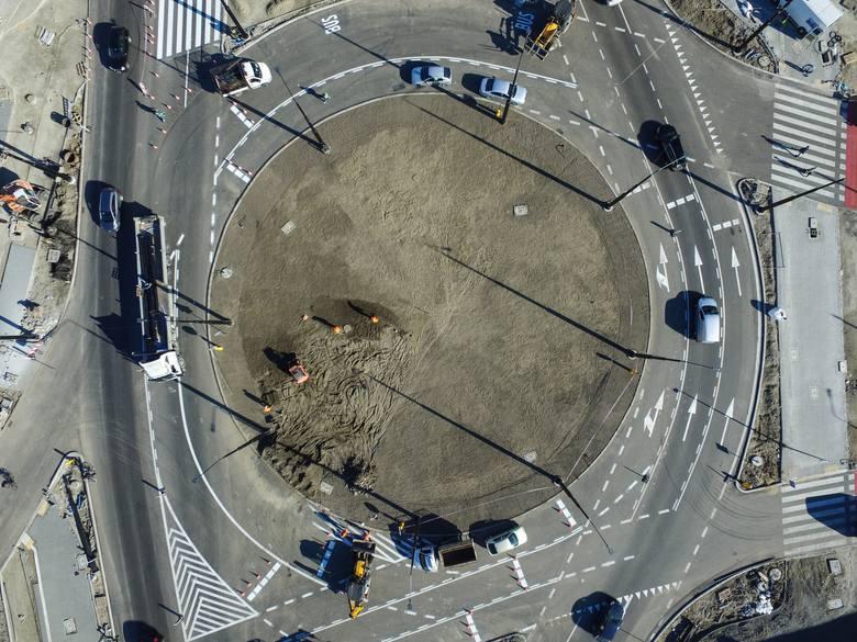 Przebudowa ronda przy Gali w Lublinie. ZTM przymierza się do wpuszczenia autobusów na ul. Fabryczną. Zobacz zdjęcia z drona!
