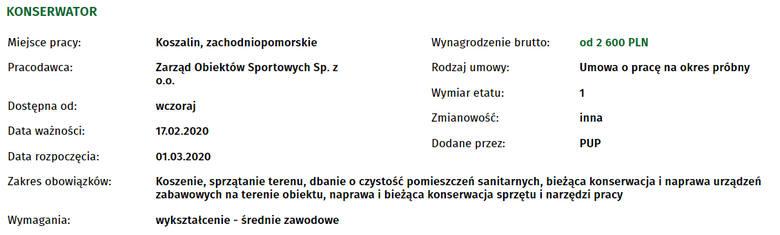 Szukasz pracy w Koszalinie? Sprawdź najnowsze oferty!
