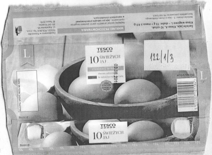 Salmonella w jajach z Tesco. Były pakowane w zakładzie pod Nysą