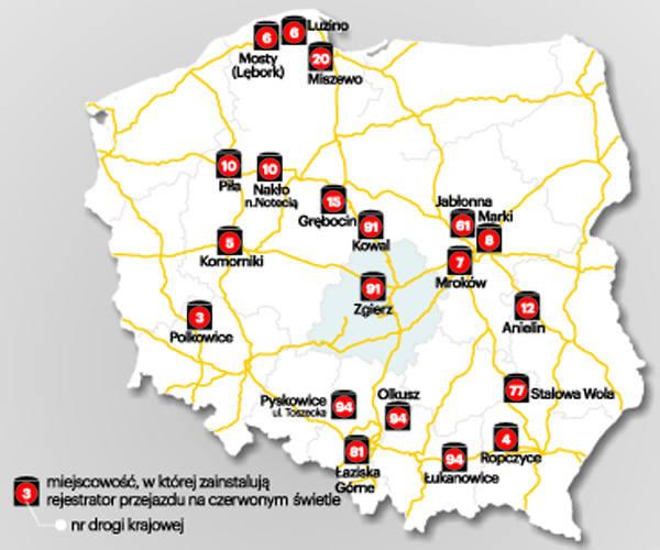 Rejestratory jazdy na czerwonym świetle w Łódzkiem. Będą łapać kierowców za jazdę na czerwonym