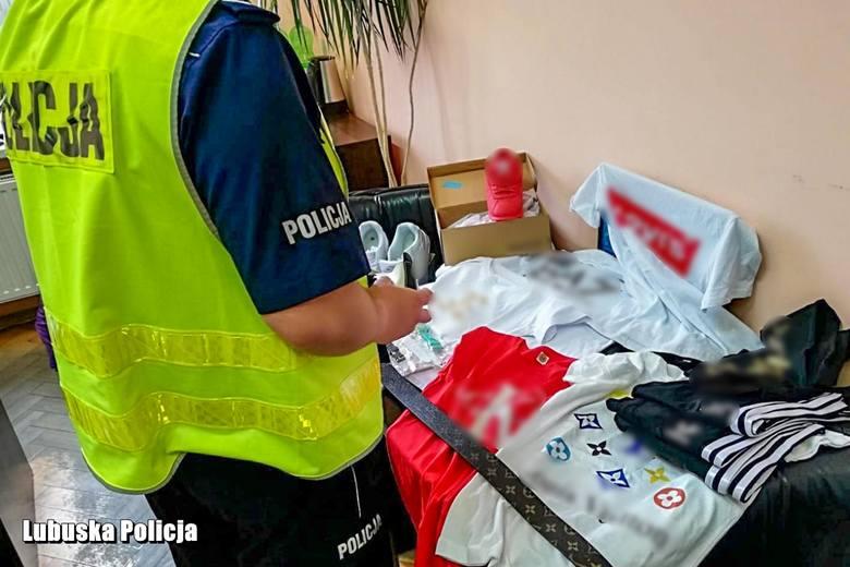 Buty, odzież sportową i galanterię z podrobionymi znakami towarowymi zabezpieczyli u młodej mieszkanki powiatu wschowskiego policjanci zajmujący się
