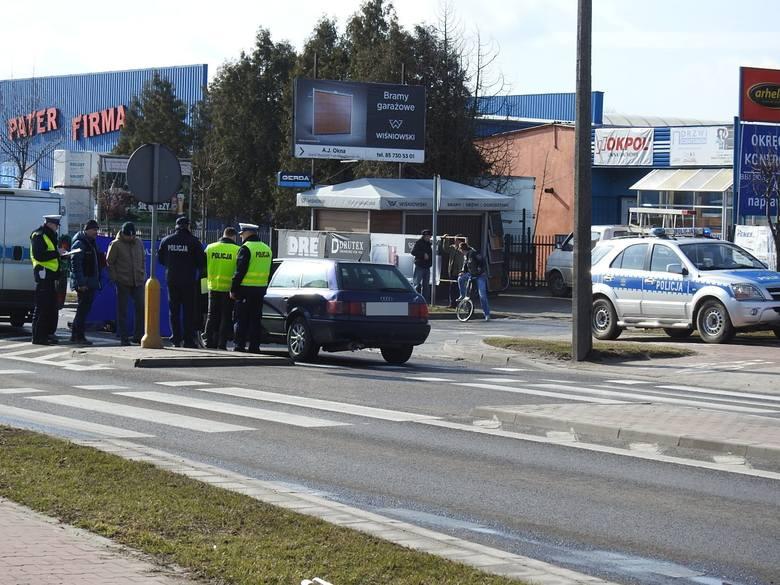 Śmiertelne potrącenie w Bielsku Podlaskim. Kobieta zginąła na miejscu (zdjęcia)