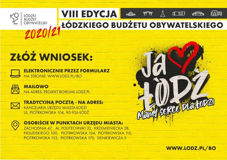 Budżet Obywatelski Łodzi 2020 - Rozpoczął się nabór projektów pod głosowanie