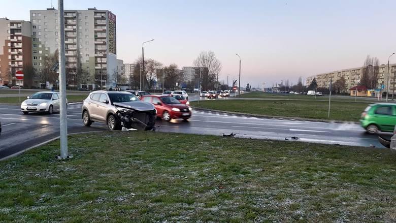 Kolejny wypadek na inowrocławskim Rąbinie [zdjęcia]