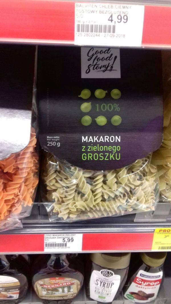 Makarony nie tylko z pszennej mąki, ale również z grochu, cieciorki lub soczewicy