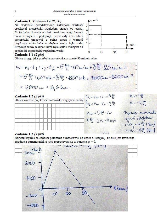 MATURA 2013. Fizyka i astronomia - poziom rozszerzony [ARKUSZE, ODPOWIEDZI, KLUCZ CKE]