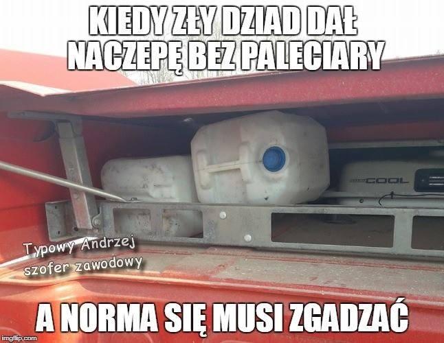Strona Typowy Andrzej - szofer zawodowy ma na Facebooku ponad 70 tysięcy fanów. Umieszczane tam memy bawią do łez, ale możemy się założyć, że nie wszyscy