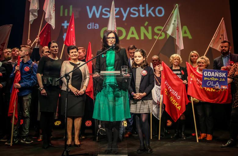 03.03.2019, wybory prezydenckie w Gdańsku. Wieczór wyborczy Aleksandry Dulkiewicz