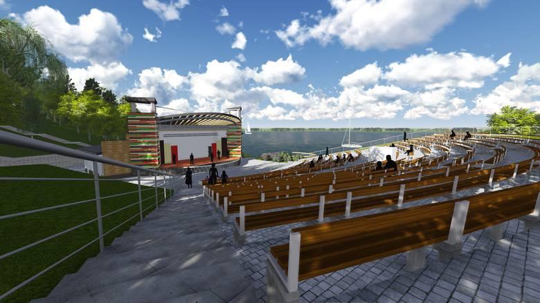 Widownia nowego amfiteatru ma zostać rozbudowana i pomieścić  980 osób