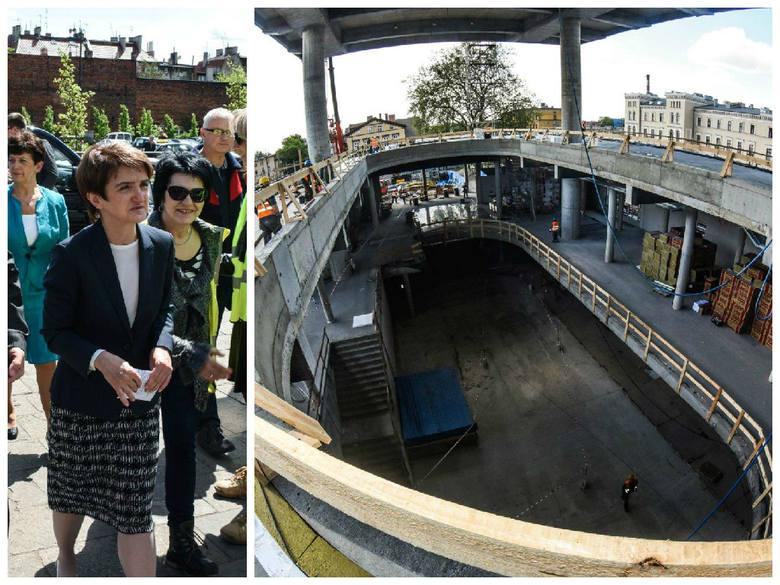 Minister Wasiak obiecała budowę S10. Była też na budowie dworca PKP w Bydgoszczy [zobacz zdjęcia]