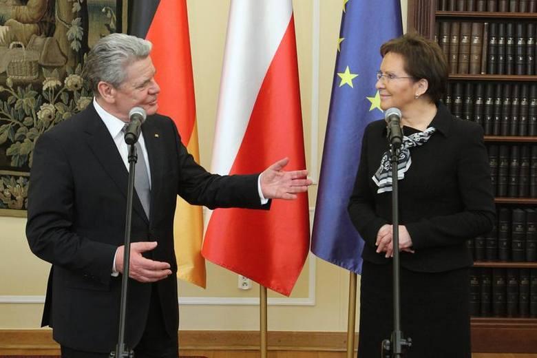 Prezydent Joachim Gauck podczas spotkania z marszałek Sejmu Ewą Kopacz.