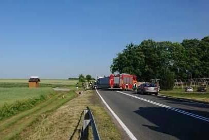 Droga jest zablokowana w obu kierunkach