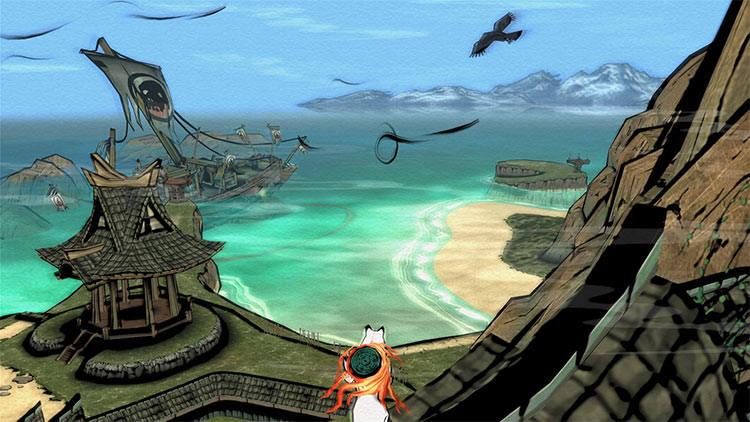 Zaczynamy od odświeżonego hitu z PlayStation 2. W Okami wcielami się boginię Amaterasu, która przyjmuje postać wilka i walczy ze złem. Oprawa graficzna