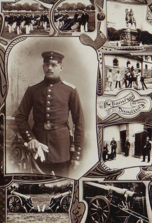 Zdjęcie ze służby w Toruniu, wykonane w atelier przy Mostowej