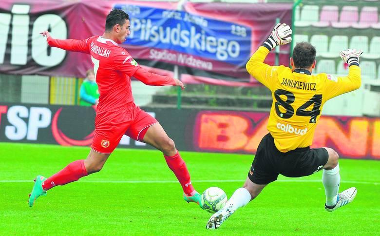 Mehdi Ben Dhifallah musi poprawić<br>skuteczność. W tym sezonie nie zdobył <br>jeszcze gola z gry.