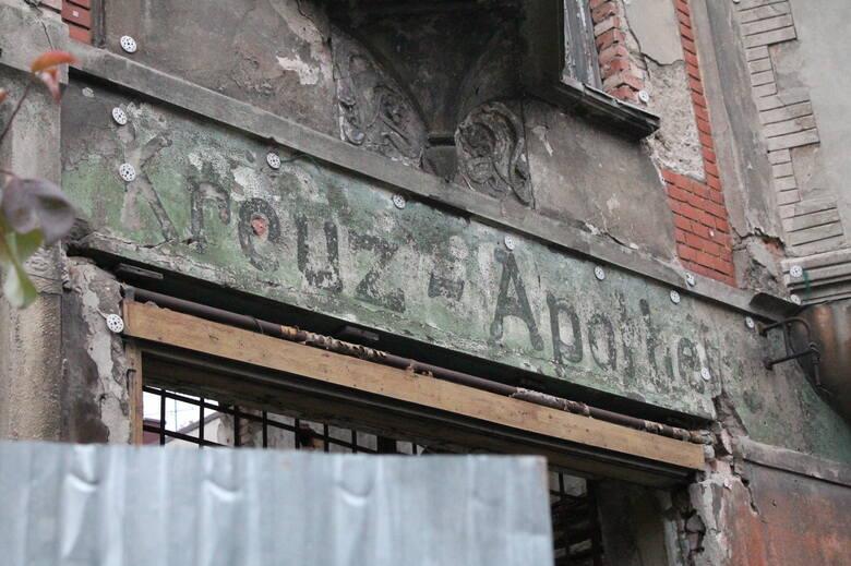 W kamienicy do 1945 roku działała apteka