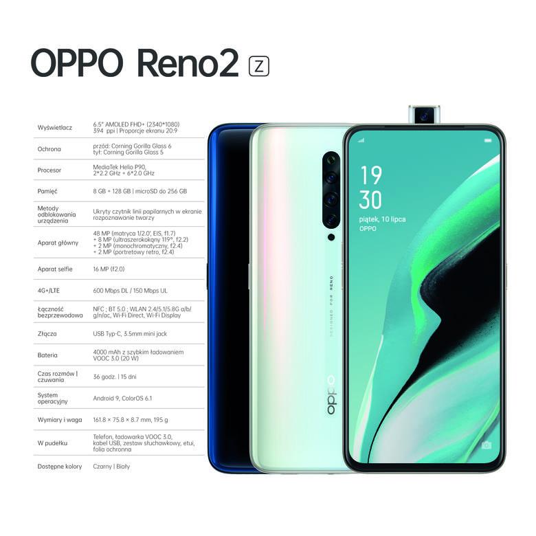 Oppo Reno2 Z specyfikacja