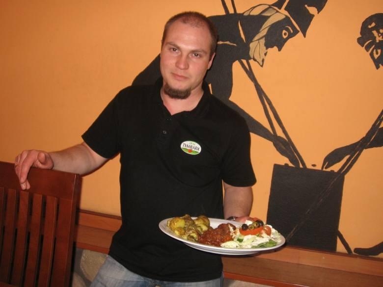 Łukasz Sarna otworzył w Rzeszowie restaurację z kuchnia grecką i włoską. Fot. Wojciech Tatara
