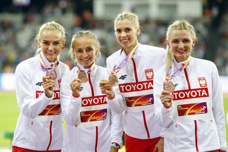 Sztafeta na 4x400 metrów kobiet w składzie Justyna Święty, Aleksandra Gaworska, Iga Baumgart i Małgorzata Hołub zdobyła ostatni, ósmy medal dla Polski