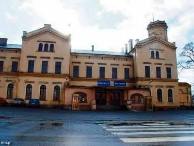 Dworzec kolejowy w Głubczycach.