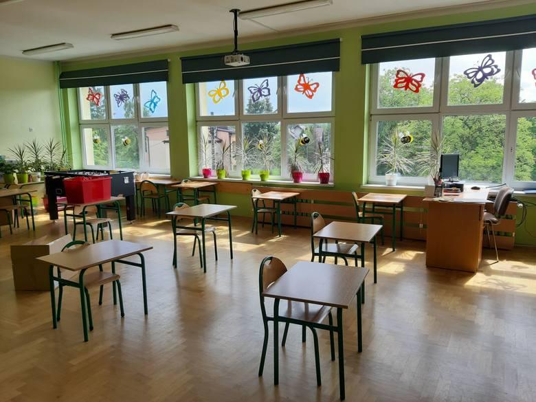 Jedna z sal po wznowionych zajęciach w SP nr 8