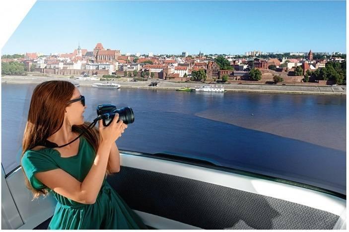 Kolej Gondolowa to atrakcja turystyczna, dzięki której z wysokości kilkudziesięciu metrów będzie można podziwiać panoramę i zespół staromiejski Torunia.