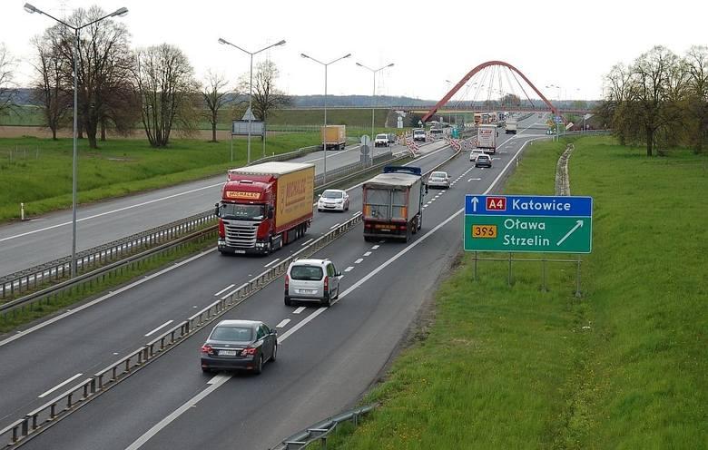 W wyniku prowadzonego remontu na autostradzie A4 zamknięta zostanie łącznica zjazdowa dla kierowców jadących od strony Opola w kierunku Oławy i Strzelina