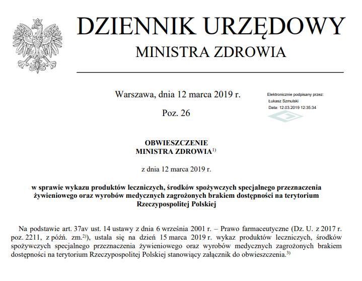 Jakich leków może zabraknąć w polskich aptekach? Ministerstwo Zdrowia opublikowało nowy wykaz.