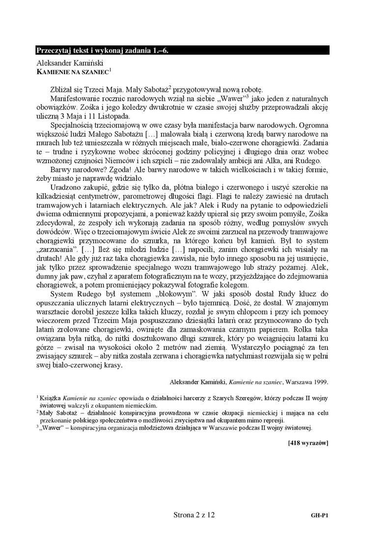 Egzamin gimnazjalny 2019 - język polski [ODPOWIEDZI, ARKUSZE]