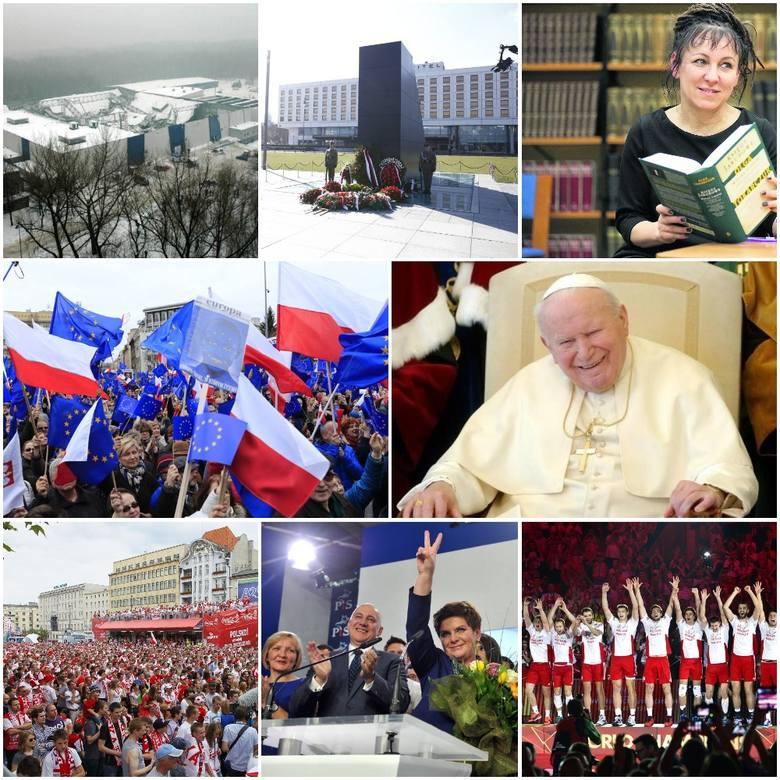 Wejście Polski do UE, śmierć Jana Pawła II, katastrofa smoleńska, organizacja Mistrzostw Europy w piłce nożnej, bezapelacyjne zwycięstwa PiS w wyborach