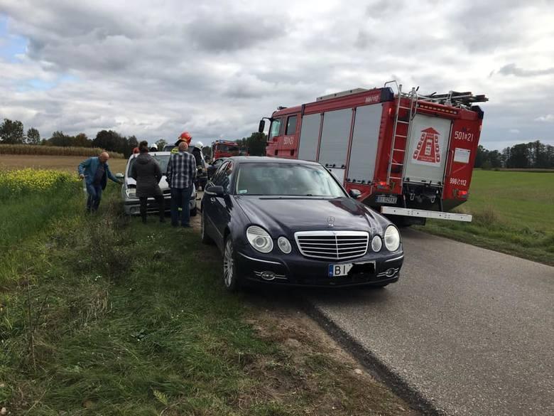 Do zdarzenia doszło w piątek, 4 października, ok. godz. 13. Osobowy Renault wjechał w tył auta marki Mercedes. Na szczęście nikomu nic się nie stało