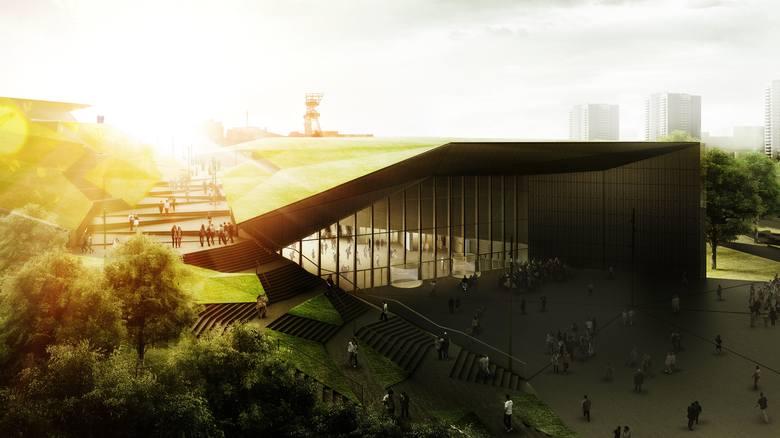 Katowice. Międzynarodowe Centrum KongresowePowstaje obok Spodka i jest częścią tzw. strefy kultury w Katowicach. Koniec budowy zaplanowano na luty, a