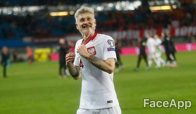 Tak mogą wyglądać obecni reprezentanci Polski, gdy będą starzy
