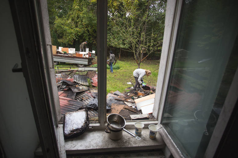 W poniedziałek  spłonęła część domu Jolanty i Ireneusza Borkowskich przy ul. Bałtyckiej 10 a w Słupsku. Jego właściciele nie są w stanie samodzielnie