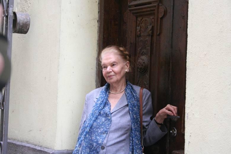 Julia Hartwig w czasie wizyty w Lublinie.