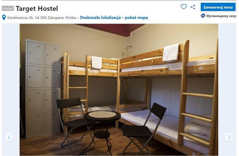 Target Hostel - ul. Sienkiewicza 3bHostel Target usytuowany jest w centrum Zakopanego, 350 metrów od dworca kolejowego i 750 metrów od deptaka Krupówki.
