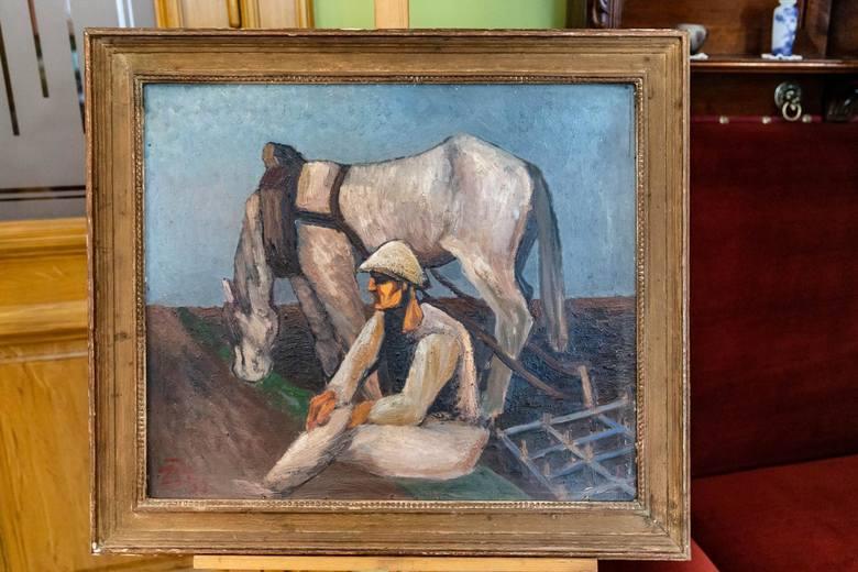 """Muzeum nabyło też obraz Zygmunta Bobowskiego """"Feieramt"""""""