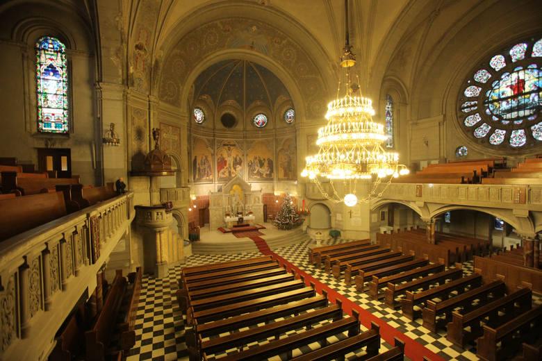 Tak prezentuje się wnętrze ewangelickiego kościoła pw. św. Mateusza