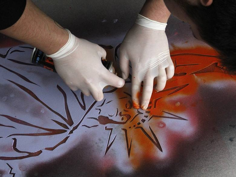 Wykorzystanie szablonu malarskiego