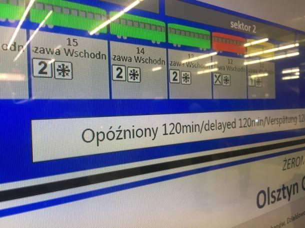 Totalny paraliż na kolei. Gigantyczne opóźnienia na trasie Warszawa-Kraków