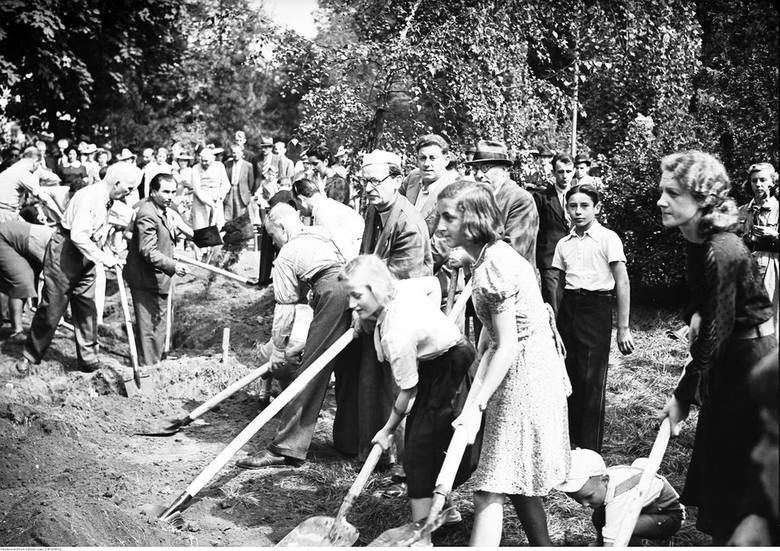 W akcję kopania rowów  zaangażowały się rzesze Polaków