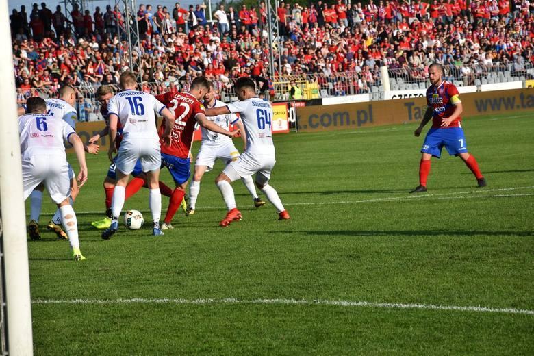 Wigry Suwałki pokonały Raków Częstochowa i utrzymały się w I lidze (zdjęcia)