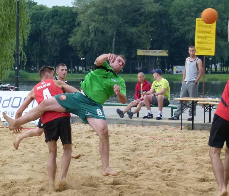Ekipa AZS Radom (Grzegorz Mroczek w zielonym stroju) zajęła siódme miejsce w turnieju Radom Open