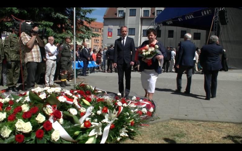 Złożenie kwiatów z okazji rocznicy Wydarzeń Zielonogórskich.