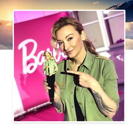 Martyna Wojciechowska i jej lalka Barbie