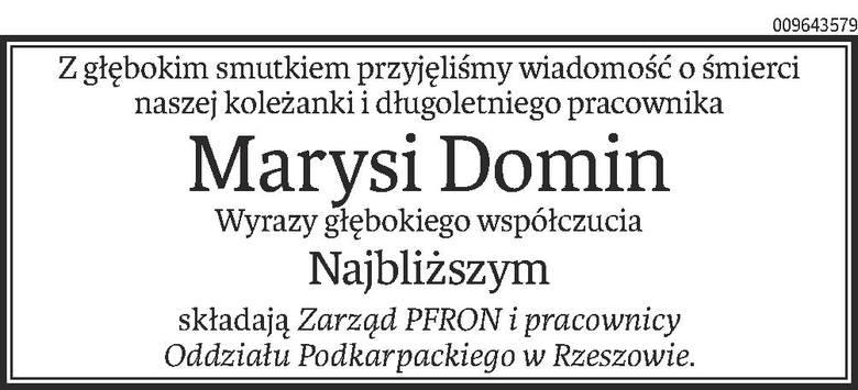Nekrologi i Kondolencje z dnia 01 kwietnia 2020 roku