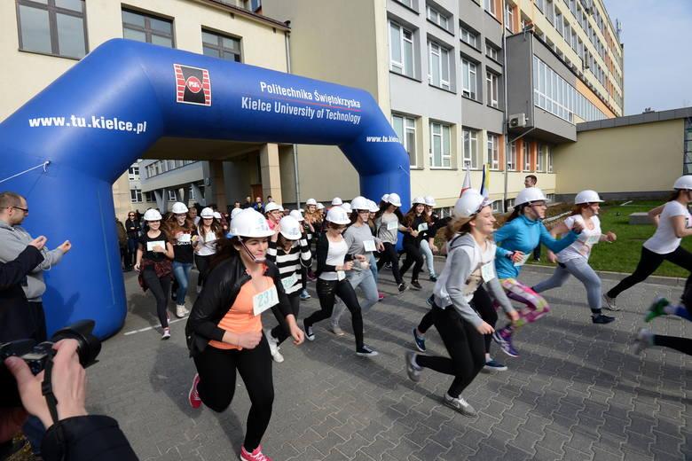 Dziewczyny biegały w Politechnice Świętokrzyskiej