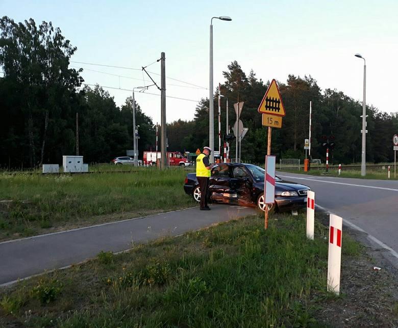 Do zdarzenia drogowego doszło w sobotę około godziny 18.30 w miejscowości Goniądz w powiecie monieckim na DK 65.